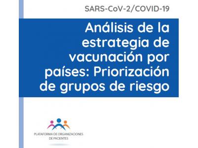 Análisis de la estrategia de vacunación por países: Priorización de grupos de riesgo